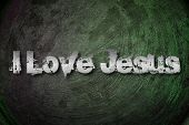 image of judas  - I Love Jesus Concept text on background - JPG