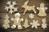Gingerbreads On Wood