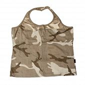 Camouflage Undershirt Isolated On White. With Clipping Path