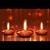 stock photo of diwali  - Vector shiny background of diwali - JPG