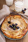 Baking with apple, sugar and cinnamon