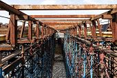 picture of skyway bridge  - Scaffolds at road construction site In Russia - JPG
