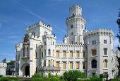 Hluboka castle, beautiful landmark in Czech Republic