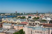 View at Riga city from above, Latvia