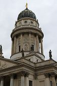 picture of dom  - The Franzosischer Dom or French Cathedral located in Berlin on the Gendarmenmarkt