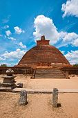 Jetavaranama Dagoba  (stupa). Anuradhapura, Sri Lanka