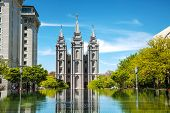 Mormons Temple In Salt Lake City, Ut