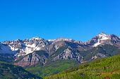 Snow Mountains of Telluride Colorado.