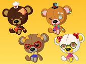 Cute Bear Dolls with Accessories 1