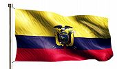 Ecuador National Flag Isolated 3D White Background