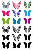 Unicolorous Butterflies Wings Set