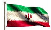 Iran National Flag Isolated 3D White Background