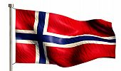 Norway National Flag Isolated 3D White Background