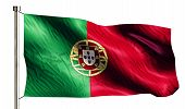 Portugal National Flag Isolated 3D White Background
