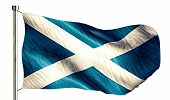 Scotland National Flag Isolated 3D White Background