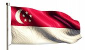 Singapore National Flag Isolated 3D White Background
