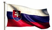 Slovakia National Flag Isolated 3D White Background