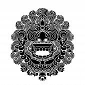 Mythological gods head, indonesian traditional art