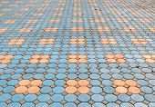Pattern Of Brick And Cement Pavement Background