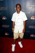 NEW YORK-AUG 13: Singer Quintavious Johnson attends the backstage post-show red carpet for NBC's 'America's Got Talent' Season 9 at Radio City Music Hall on August 13, 2014 in New York City.