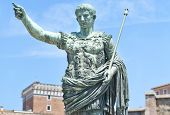picture of tyranny  - Photo of the emperor Augustus statue in Rome - JPG