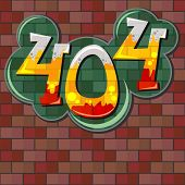 stock photo of not found  - Concept of not found error message over red brick wall - JPG