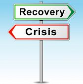 Recovery And Crisis Direction Sign