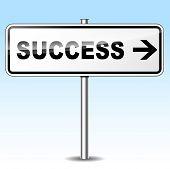 Success Directional Sign