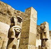 stock photo of obelisk  - Obelisk of Queen Hapshetsut in Karnak - JPG