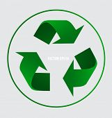 Recycle symbol. Vector symbol on the packaging, vector Illustration.