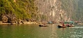 image of peddlers  - Trader women at the floating village in Halong Bay Vietnam - JPG