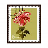 Stamp Chrysanthemum