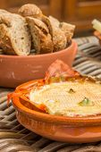 French Camembert Baked With Garlic