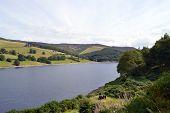 Ladybower reservoir in Derbyshire, England UK