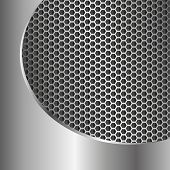 picture of metal grate  - metallic background with grate texture  - JPG
