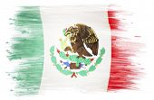 Mexican flag on plain background
