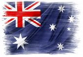 Australian flag on plain background