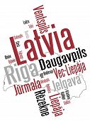 Latvia Map And Cities