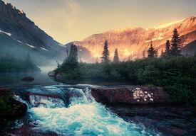 picture of landforms  - Glacier National Park - JPG