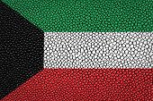 image of stingray  - Kuwait Flag painted on stingray skin texture - JPG