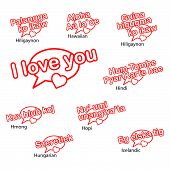 stock photo of hmong  - word i love you in different languages love concept - JPG
