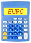 Calculator With Euro