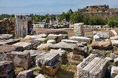 Pamukkale. Turkey. Ruins of Hierapolis, ancient city