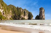 Famous Pai Plong Beach In Krabi Province, Thailand