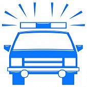 Постер, плакат: 3D полицейский автомобиль