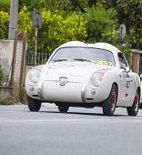 old car  Abarth FIAT 750 berlinetta Zagato 1957 mille milglia 2014