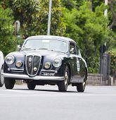 old car LanciaAurelia B20 GT 2500 berlinetta Pinin Farina1955 mille miglia 2014