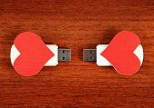 Usb Flash Drive With Heart Shapes