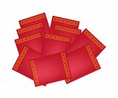 Stack of Red envelopes for Chinese New Year