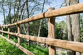 Wooden Fence In The Park